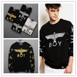 Wholesale Boys Jumpers - Hot Boy London Eagle Sweatshirt Funny Fashion Clothing Women Men Unisex Sweats Crewneck Jumper Jogging Sport Tops Hoodies