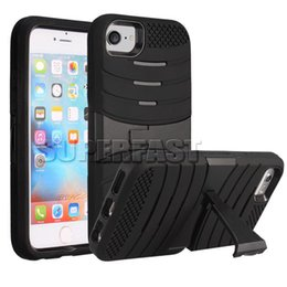 Wholesale S7 One - For iPhone 7 Armor Case Two in One Hybrid Case For Galaxy S7 Soft Kickstand Case For Galaxy On 5 with OPP Package