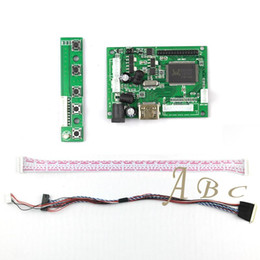 Lvds tft lcd controlador online-Freeshipping HDMI LVDS Controller Board + 40 Pines Lvds Cable Kit para Raspberry PI 3 LP156WH2 TLA1 TLE1 1366x768 1ch 6 bit TFT LCD Display