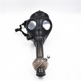 Wholesale Gas Ships - 1pcs Silicon Mash Creative Acrylic Smoking Pipe Gas Mask Pipes Acrylic Bongs Tabacco Shisha Pipe Free Shipping