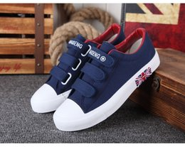 Wholesale Good For Export - Good quality Casual shoes for men women Lovers shoes Breathable Skidproof Lovely Canvas shoe Spring Autumn Period Korean Hook & Loop Export
