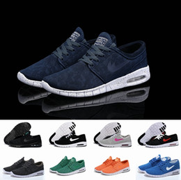 Wholesale Size 12 Mans Shoes - 12 pure colors SB Stefan Janoski Max Running Shoes Men And Women Fashion Konston Lightweight Skateboard Athletic Sneakers Maxes Size 36-45