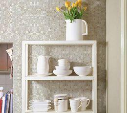 Wholesale Pearl Shell Tiles - White Shell Mosaic Tiles,12x12 Mother of Pearl Mosaic Tiles, Kitchen Backsplash Tiles,high quality waterproof Bathroom Mosaic Tiles,LSBK01