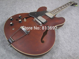Wholesale Electric Guitars Lefty - Wholesale- Jazz Electric Guitar,Left Handed Guitar Lefty, Satin Brown, High Quality Guitar, Lefty14