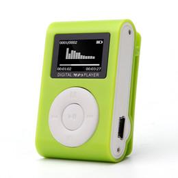 Wholesale Mini Digital Recorder Sd Card - Wholesale- MP3 Mini USB Clip MP3 Player Digital LCD Screen Support 32GB Micro SD TF Card For Sport Running Biking Walking