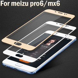 Wholesale Mx Phones - Thin Screen Film Tempered Glass For meizu Pro 6 mx 6 Case Protect Slim Protector For meizu mx6 pro6 hard edge Phone Film