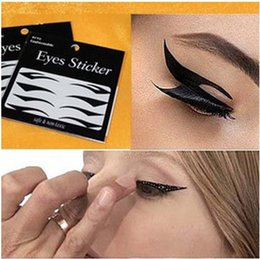 Wholesale Eye Shadow Transfers Wholesale - Wholesale-Hot Selling 4Pairs Style Sexy Temporary Eye Makeup Tools Eyelid Transfer Eyeliner Shadow Sticker