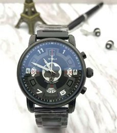 Wholesale Brand Watches New Model - 2017 watchesoffer2u suggest top brand quaity limited mens watch models chrono high quality date black steel five colors quartz mens watch