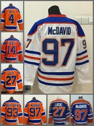 Wholesale 99 Free - 2017 Cheap 27 Milan LUCIC Mens Edmonton Oilers blue 99 Gretzky Ice Hockey Jersey 94 smyth 14 Eberle 4 Hall Free Drop Shipping