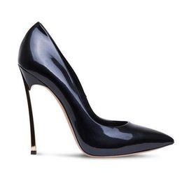 Kadın shining blade stilettos 12 cm sivri burun yüksek topuklu siyah bej pompaları ünlü moda topuklu parti pompaları nereden