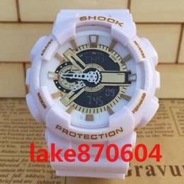 Wholesale Fun Digital - ga110 wholesale DHL luxury brand watch G New Men's Brand Luxury Style Shock Fun Sports Analog&Digital Black Fashion LED Reloj Hombre