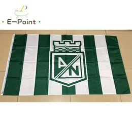 2020 bandera de colombia Colombia Atlético Nacional de Medellín FC 3 * 5 pies (90cm * 150cm) Poliéster indicador de la bandera de volar a casa decoración bandera jardín regalos festivos bandera de colombia baratos