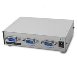 MT-1502 1x2 2 порта VGA XGA SVGA Splitter коробка делитель частоты ПК ноутбук к телевизору ЖК-монитор 1920 * 1440 150MHz от