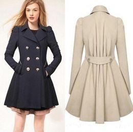 Wholesale Long Spring Trench Coats Women - 2016 New Women Trench Coat Autumn Spring Slim Overcoat Female Winter Coats Long Outerwear Free Shipping