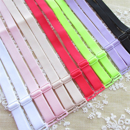 Wholesale wide elastic - Women's Convertible Bra Straps 1.0 cm wide Adjustable Elastic Soft Shoulder Straps Intimates Accessories bra straps 120pairs lot