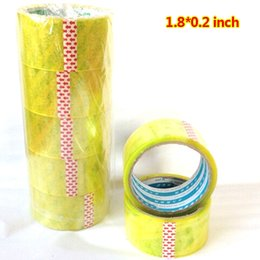 Wholesale Wholesale Clear Packing Tape - Wholesale- 2016 4 rolls Carton Sealing Clear Packing Shipping Box Tape- 1.8*0.2 inch Office Film Adhesive Tape Gift Ribbon Strapping