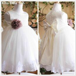 Wholesale Dresses Girl Age 12 - Free shipping princess flower girls dress Dress party evening elegant 2-12 age