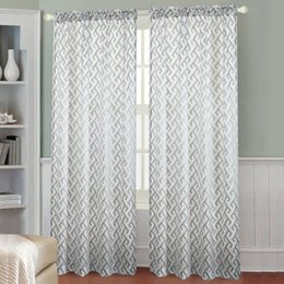 Wholesale Fixing Pocket Doors - Elantra notes Striped curtains Blackout Curtain Blind Living Room Home Decoration Rod Pocket Curtains Sheer Curtains