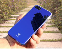 Wholesale Baseus Iphone Case - Baseus Originality Case For iPhone 7 6 plus luxury Aurora Gradient Color Transparent Case For iPhone 6s Plus light Cover Hard PC Cases