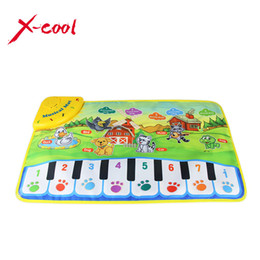 Wholesale Carpets For Children - 37x60cm baby musical carpet Children Play Mat baby Piano Music gift baby educational mat Electronic toys for kids