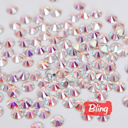 Wholesale Beauty Phone Rhinestones - Wholesale-All Sizes Clear Crystal AB Nail Rhinestones Decorations Non Hotfix Rhinestone Glue on Stones For Nail Art Phone Beauty H0011