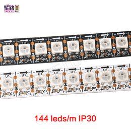 Wholesale Smd Led Strip Ic - WS2812B Smart RGB LED Pixel Strip Black White PCB 144 leds m WS2812 IC Individually Addressable ,144leds m pixels LED Tape Ribbon DC5V