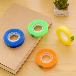 Wholesale Transparent Decorative Adhesive Tape - Wholesale- 2016 [XIROHO] 1pc cute Transparent candy color blue green yellow decorative adhesive tape for school & office supplies statione
