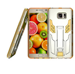 Wholesale Transformer Robots - fashion Clear Transparent transformer hybrid combo kickstand robot case cover skin for Samsung Galaxy Note5 heavy duty case