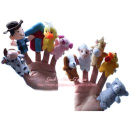 Wholesale Wholesale Plush Farm Finger Puppets - Wholesale-Finger Puppets Forest Farm Animals Finger Puppet Plush Toys A Very Nice Baby Toys As A Best Gift For Your Kids