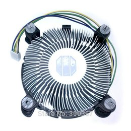 Wholesale Heatsink Fan 775 - Wholesale- 4 PinDesktop Computer PC Aluminum CPU Heatsink cheap Cooler Fan for LGA 775 or LGA1155 1156 1150 3type