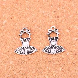 Wholesale Wholesale Ballerina Charms - Wholesale 110pcs Fashion Antique silver ballet tutu dress ballerina skirt charms metal pendants for diy jewelry findings 20*16mm