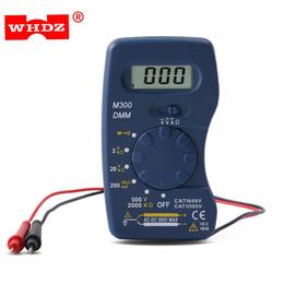 Wholesale pocket multimeter - WHDZ Mini Digital Multimeter Pocket DMM AC DC Current Voltage Resistance Multitesters Mini Ammeter Voltmeter Ohm Testers +B