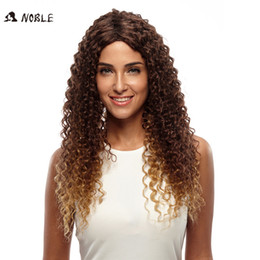 """Wholesale Extra Long Curly Wig - 26"""" Extra Long Rebecca Ombre Synthetic Hair Kinky Curly Natural Long Wig Synthetic Fiber Hair Curly Wig Noble Brand"""