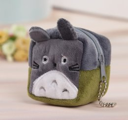 Wholesale Small Purses Keychain - Wholesale- Kawaii NEW SMALL SIZE 6CM TOTORO Coin BAG , keychain Plush Coin Bag Purse Wallet , Pocket Coin Purse Pouch