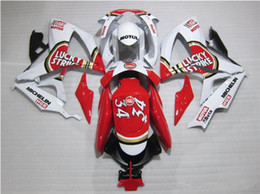 Wholesale Lucky Strike Fairings - Free gifts New hot motor Fairing Kits For SUZUKI GSXR 600 750 K6 06 07 GSXR-600 GSXR750 GSXR600 GSXR-750 2006 2007 red white lucky strike