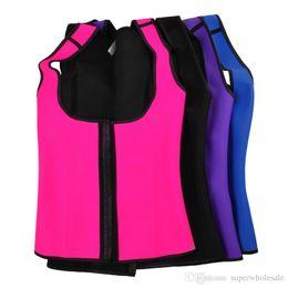 Wholesale Wholesale Blue Black Girdle - Womens Corsets Shapewear Vest Pattern Corset Tummy Girdle Control Corset Sport Body Shaper Belt Shapewear Slim Body Shaper Body Slim Wear