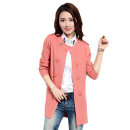 Wholesale High Fashion Coat For Ladies - Wholesale- New Plus Size Cardigans 2017 Women Fashion Casual Tricotado High Quality Long Cardigan Coat Women Knitted Sweaters For Ladies