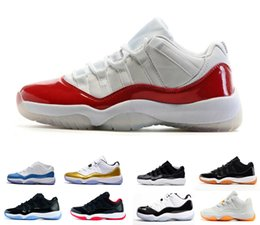 Wholesale Red Gum Boots - Air retro 11 XI Mens Basketball Shoes Barons bred space jam concord UNC GS HEIRESS Navy Gum retro 11s Athletic sneakers eur 36-47