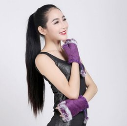 Wholesale Types Fashion Gloves - Manufacturers selling half finger gloves and Lady rabbit warm winter fashion indoor mitts computer typing