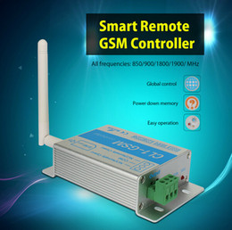 Wholesale Door Open Switch - Wholesale-Smart Home Remote GSM door and gate opening controller SMS call relay switch for gate opener water pump motor home appliances