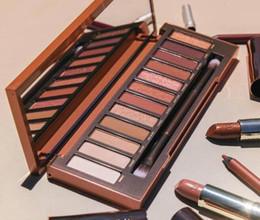 Wholesale Heat Brush - Newest Nude Heat Eyeshadow Palette 12 Colors Professional Makeup Eyeshadow Palette With Makeup Brushes Makeup palette