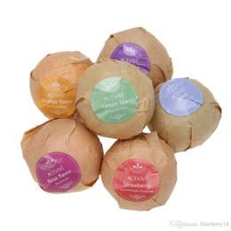 Wholesale Handmade Gift Set - High quality Organic Bath Salt Bombs Skin Care Oil Sea Salt Bath Bombs Gift Set 6 Flavor Organic Handmade