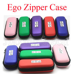 Wholesale Leather Pouch For Electronic Cigarette - Ego Zipper Case Colorful For Electronic Cigarette Ego Evod Ce4 Ce5 Mt3 Vape Pen Carry Bag Pouch Cases Starter Kit Ecig Free Shipping