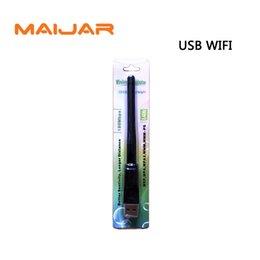 Wholesale Wholesale Satellite Antenna - USB Wifi With Antenna Work For FTA Digital Satellite Receiver Series V8s V8se V6s S1000mx F5S V9 V7hd V8 Super V7max
