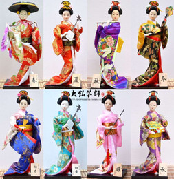 Wholesale Crafts Dolls Supplies - Boutique Japanese dolls 12 Inch Doll shaped silk handmade Japanese craft ornaments Hostel Trim restaurant supplies