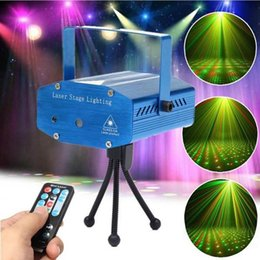 Wholesale Disco Laser Light Remote Control - Mini Remote Control Star Laser Projector DJ Disco Stage Lighting Adjustment Party Club Light Top Quality IN STOCKS