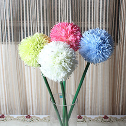 Wholesale Wholesale Artificial Flowers Manufacturers - The living room floor decorative flower household put onion ball simulation Single artificial flowers products green ball manufacturers sell