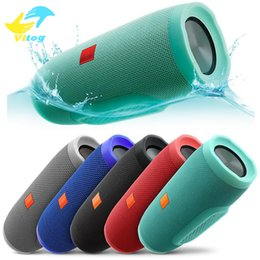 Wholesale High Quality Wireless Speakers - Charge3 Fashion designed splashproof portable wireless bluetooth mini speaker high-quality built-in rechargeable battery powerbank