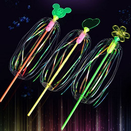 Wholesale Games Flowers - Amazing Twister Flash Magic Wand LED Light Sticks Toys Diverse Twister Game Flower Colorful Ribbon Bar Bubble Wand Kids