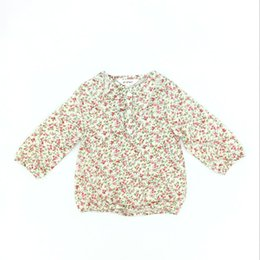 Wholesale Children Blouses - Kids Clothes Girls Flower Long Sleeve Shirt Cotton Country Style Brand Spring Fall Children Girl Clothing